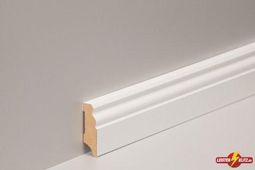 fussbodenleiste sockelleiste altberliner profil 19x60mm mdf wei foliert parkett shop. Black Bedroom Furniture Sets. Home Design Ideas