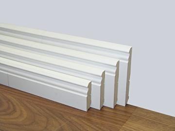 Fußbodenleisten Weiß mdf sockelleisten hamburger profil weiß h 120 x t 18 x l