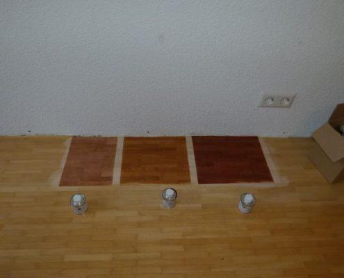 Parkett Musterfarben, direkt auf Ihrem Boden