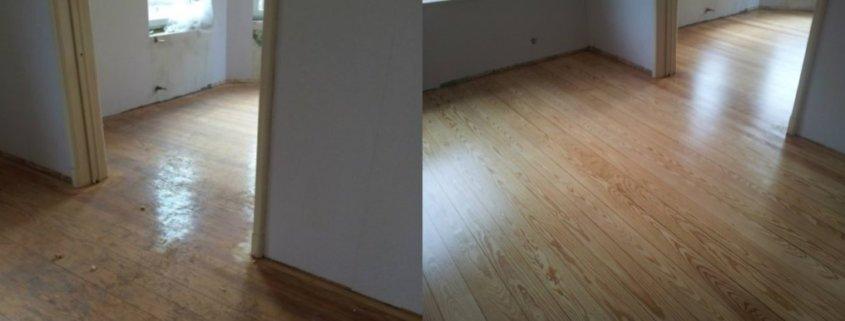 Pitch Pine Dielen: frisch renoviert und versiegelt